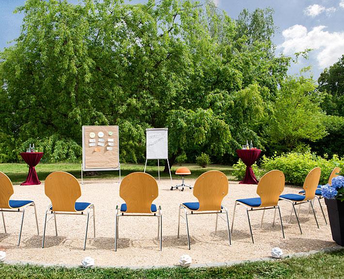Tagungen und Seminare: Grünes Klassenzimmer. Fotograf: Sebastian Runge