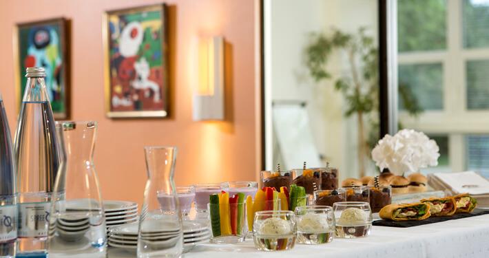 Pausenbuffet Seminare und Tagungen. Fotograf: Sebastian Runge