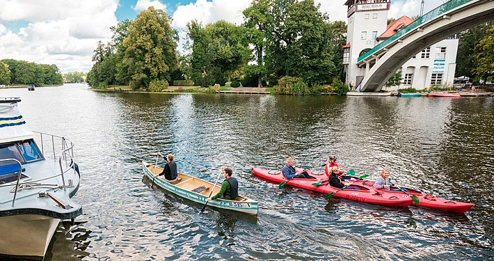 Kanutour auf den Wasserwegen in Treptow-Köpenick. Tourismusverein Berlin Trepto-Köpenick