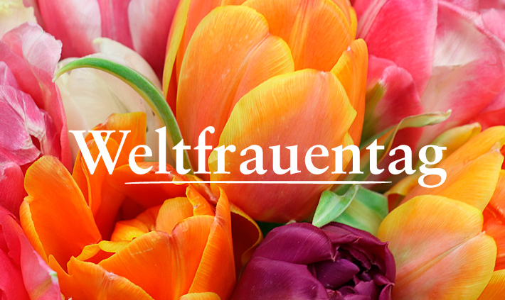 Strauß bunter Tulpen   Weltfrauentag